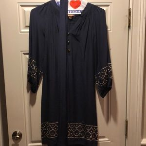 Lilly Pulitzer navy silk dress, size large